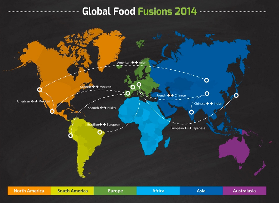 food trends 2014 map